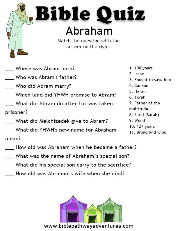 Free Bible Quiz: Abraham