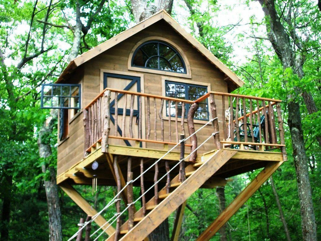 6 Ways To Make Your Tree House Safer Salter Spiral Stair Simple Tree House Tree House Diy Tree House Plans