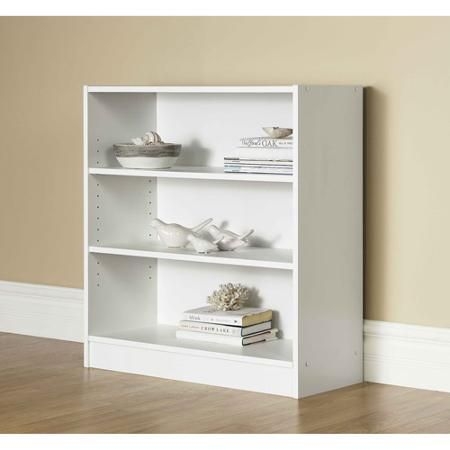 Mainstays Orion 32 3 Shelf Wide Bookcase Multiple Finishes Walmart Com Bookcase 3 Shelf Bookcase Shelves