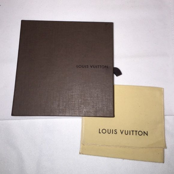Louis Vuitton Wallet Box and Dust Bag New - box-6.75x6.75x2 - dust bag 5x6 Louis Vuitton Bags Wallets