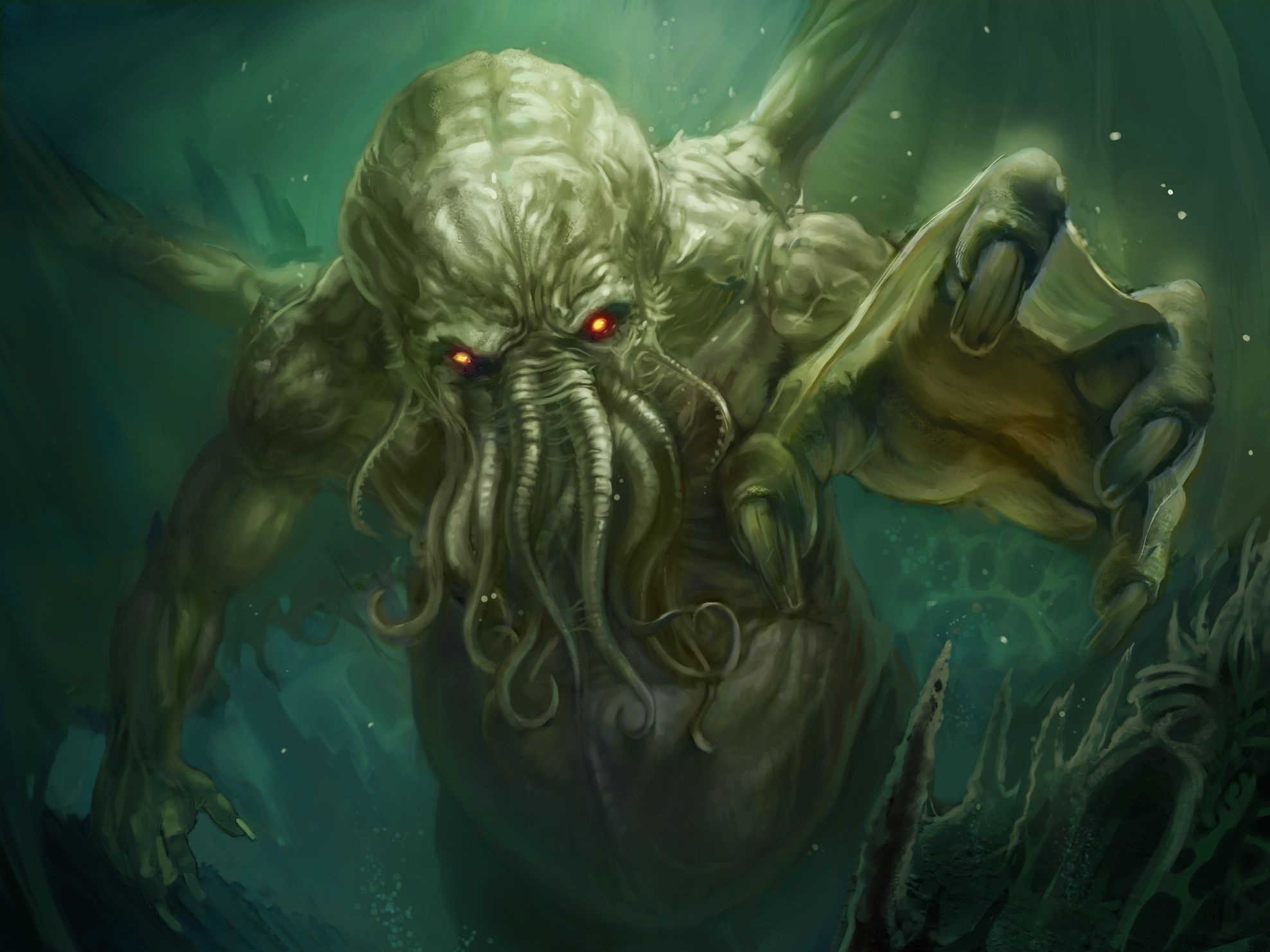 Cthulhu Mythos Deity Physiology in 2019 | Nature Int Painting | Call