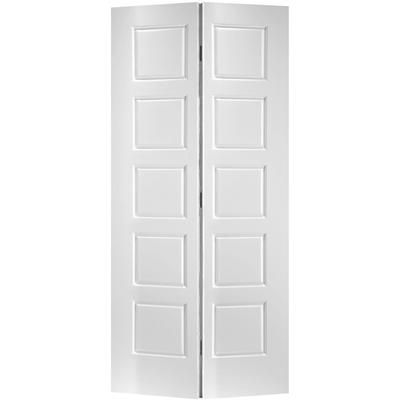 Masonite Primed 5 Panel Equal Smooth Interior Closet Bifold Door 24 Inch X 80 Inch 24riversidebifo Bifold Doors Masonite Interior Doors Bifold Closet Doors