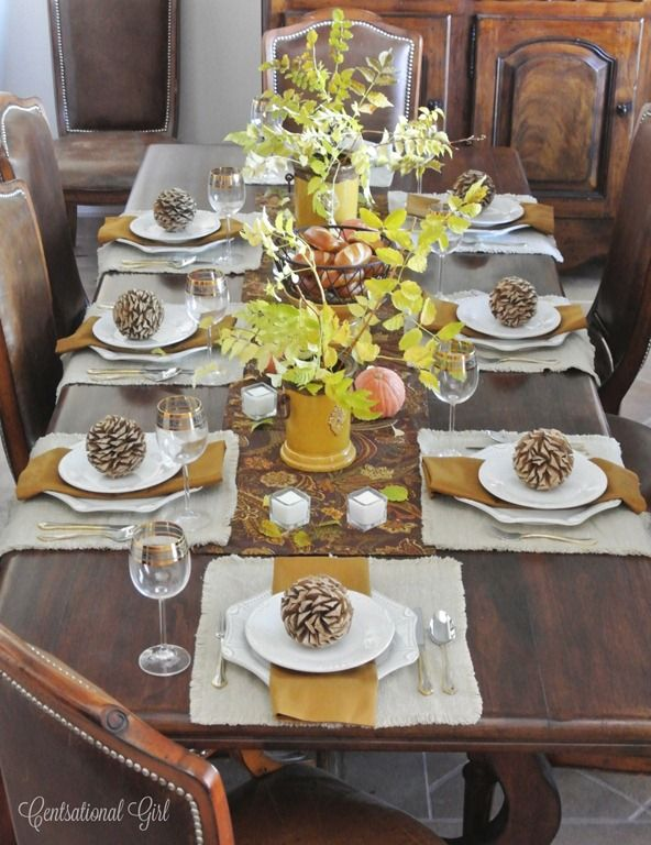 Momu0027s Thanksgiving Table & thanksgiving table set u2013 Loris Decoration