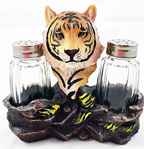 Jungle Wildlife Orange Bengal Tiger Figurine Salt Pepper Shakers Holder Kitchen  Decor Centerpiece | TigerGifts.
