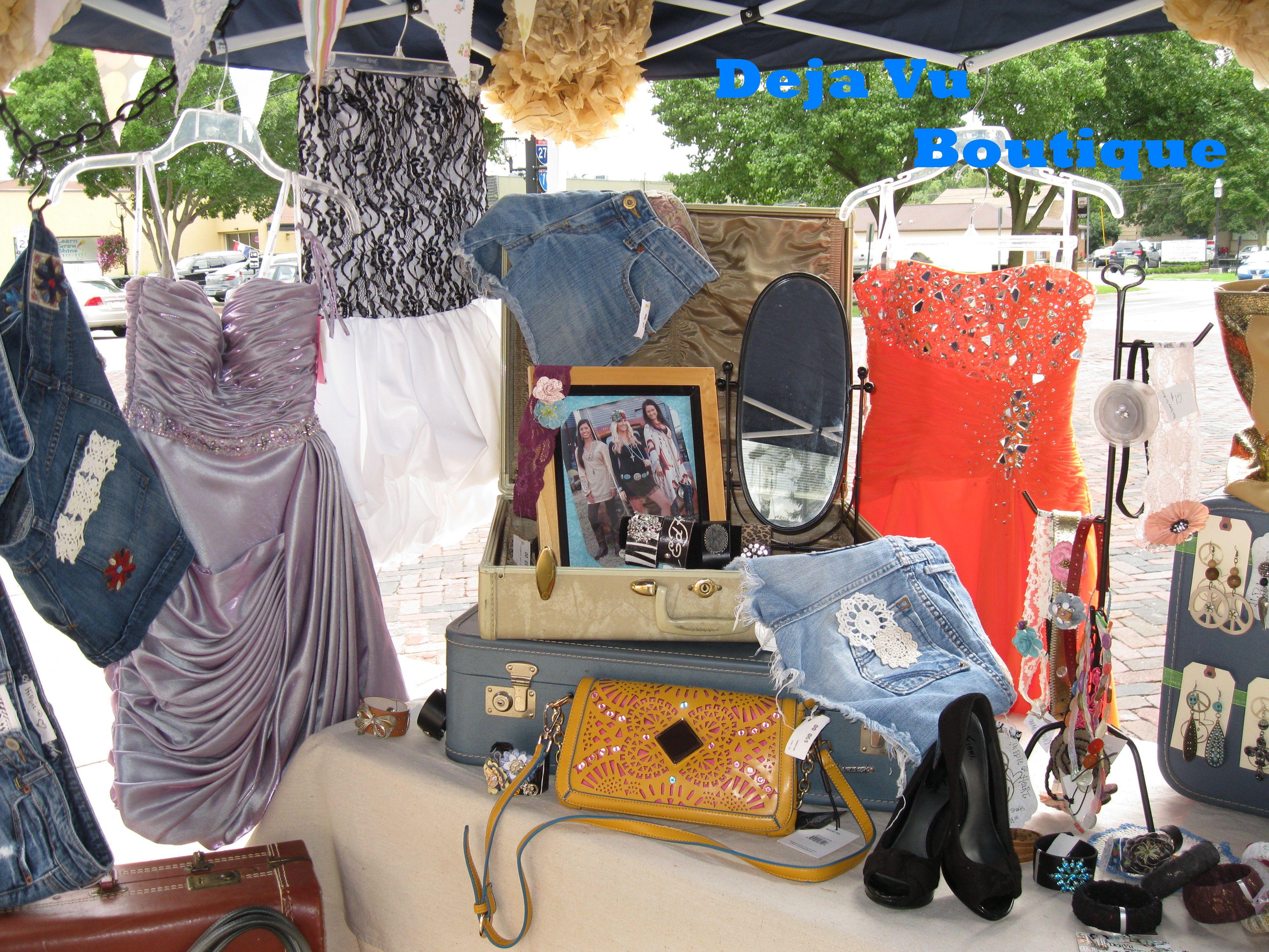 Deja Vu Boutique at the Grove City, OH Farmer's Market!