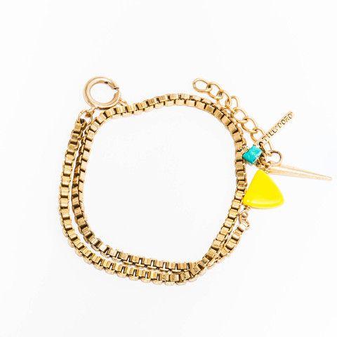 Geo Wrap Bracelet- Yellow