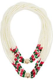 Kenneth Jay Lane Convertible faux pearl necklace