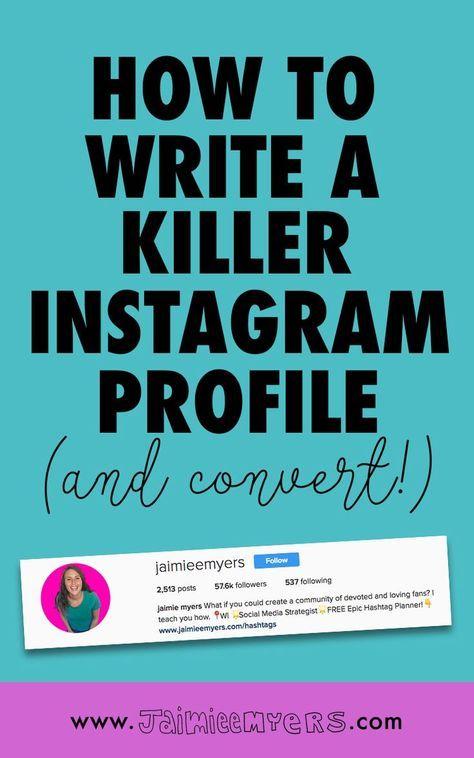 How to Write a Killer Instagram Bio Instagram bio, Profile and - how to write a profile