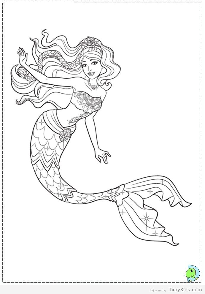 Timykids Mermaid Coloring Pictures