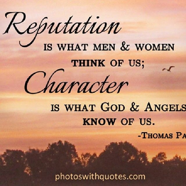 Reputation & Character