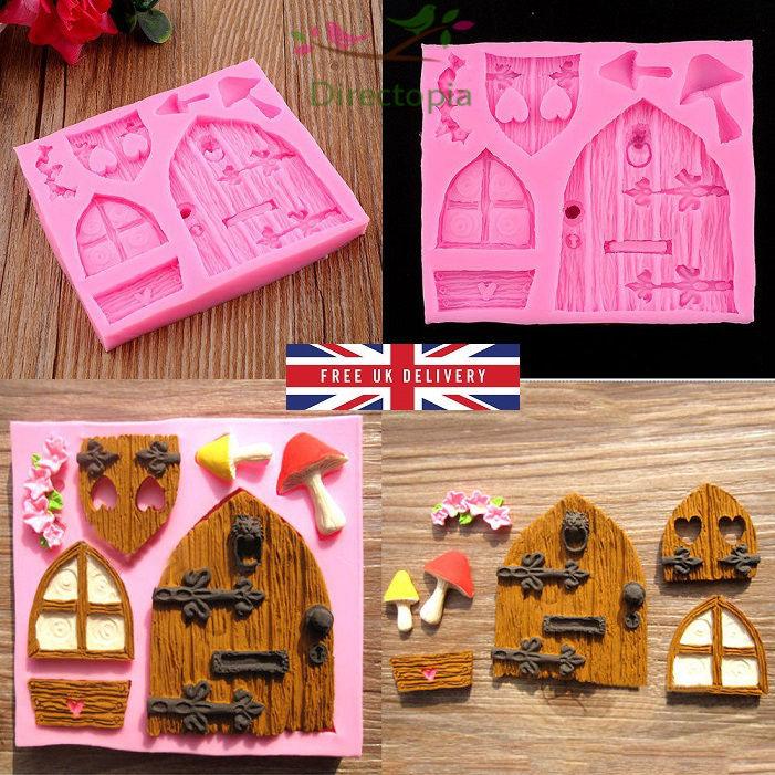 3d Fairy Elf House Door Silicone Fondant Mould Cake