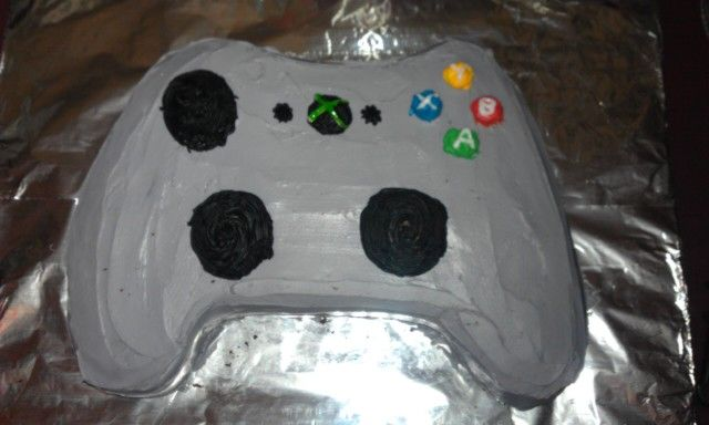 Xbox controller cake I made for my 12 year old boys birthday party