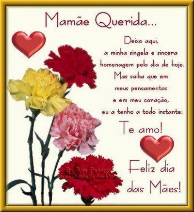 Frases E Mensagens Para Dia Das Maes Mães Pinterest Dia De