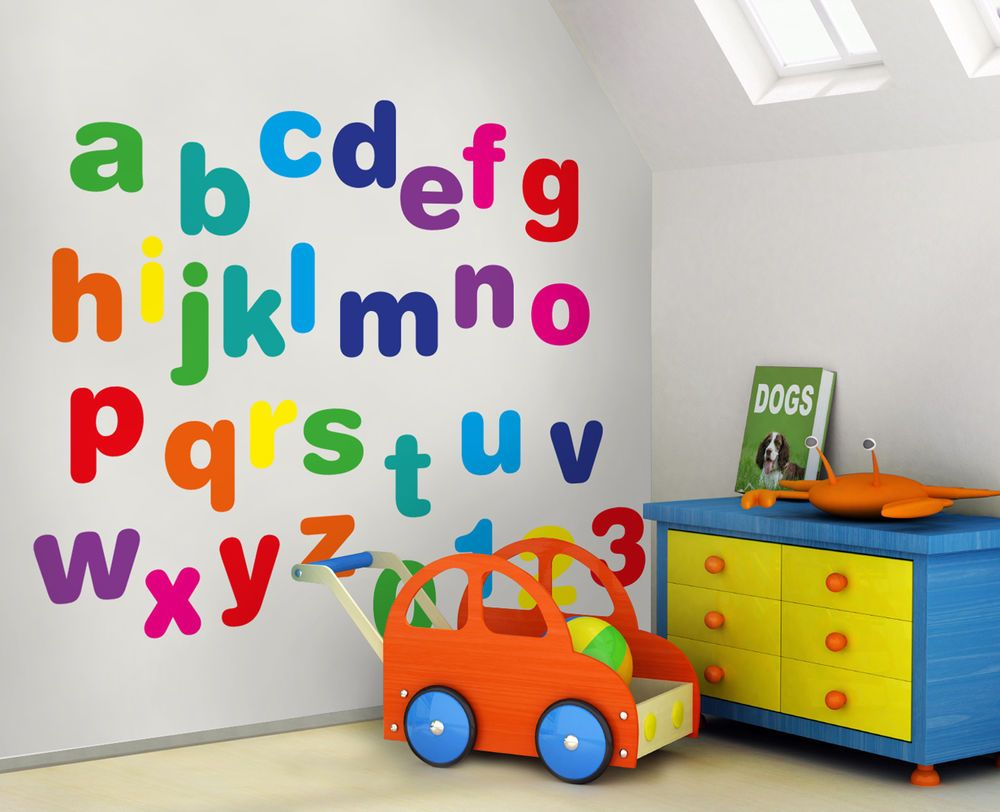 Large Alphabet Wall Stickers - Lower Case (Kids / Early Learning)