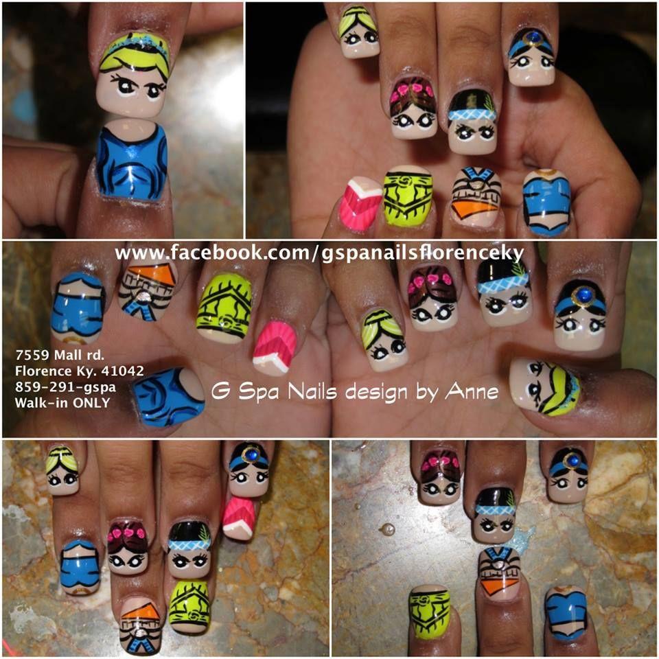 disney princess nails   Nails designs   Pinterest