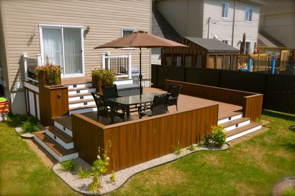 Patio plus patios niveaux yard pinterest dehors for Spa et patio