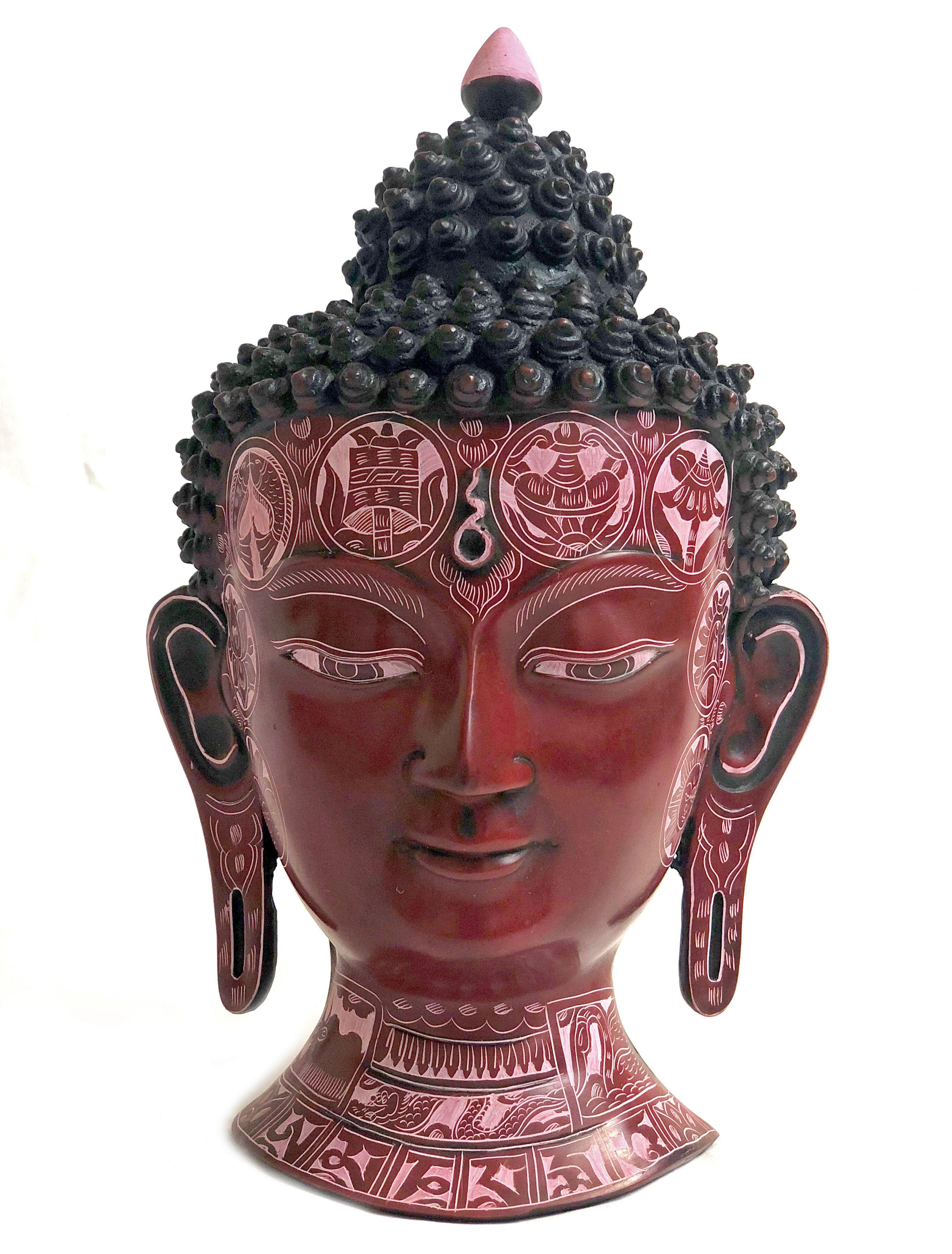 Buddha Wall Mount Tibetan Buddhist Sculpture Lady Face Buddha