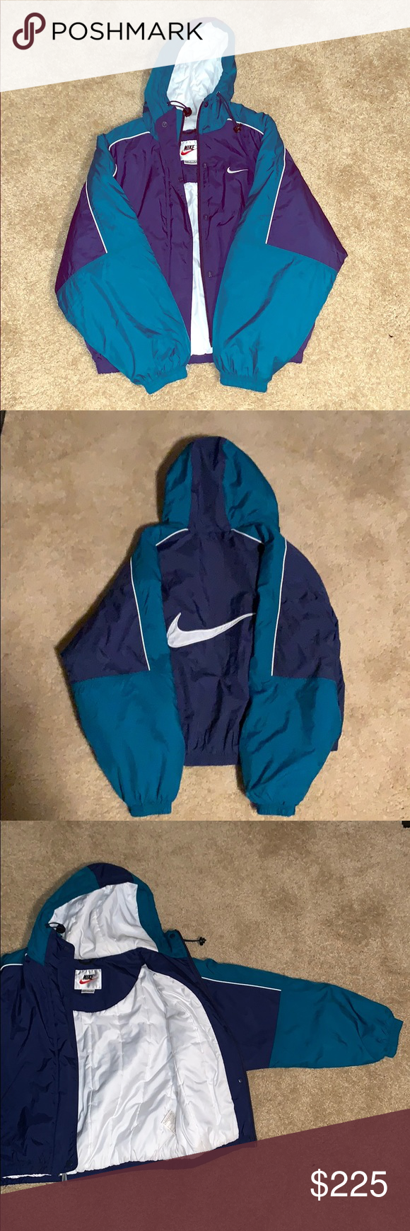 LIMITED EDITION VINTAGE BLUE NIKE COAT S (RARE!) One of a