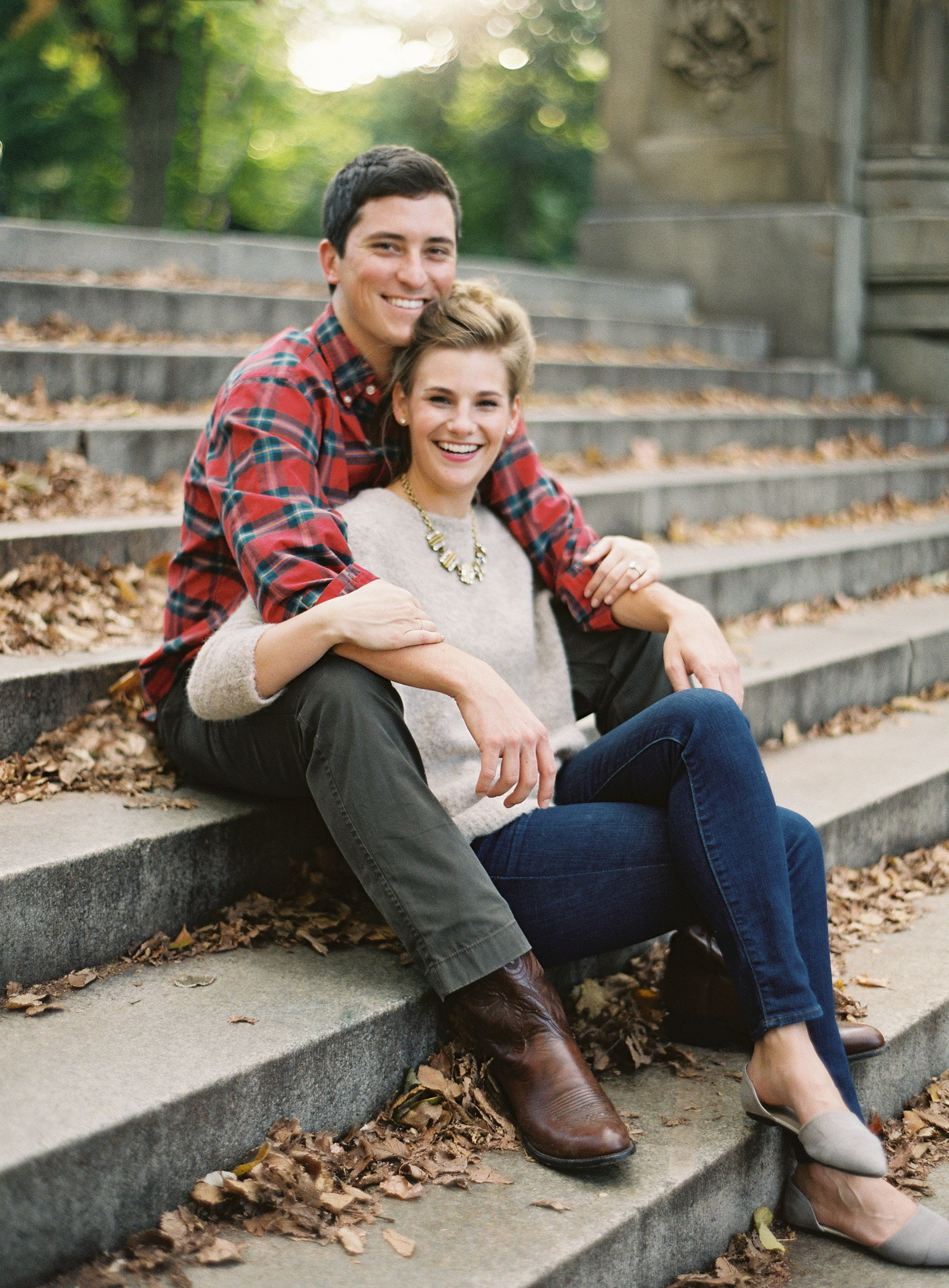 Fall Engagement Session in Manhattan Engagement photo