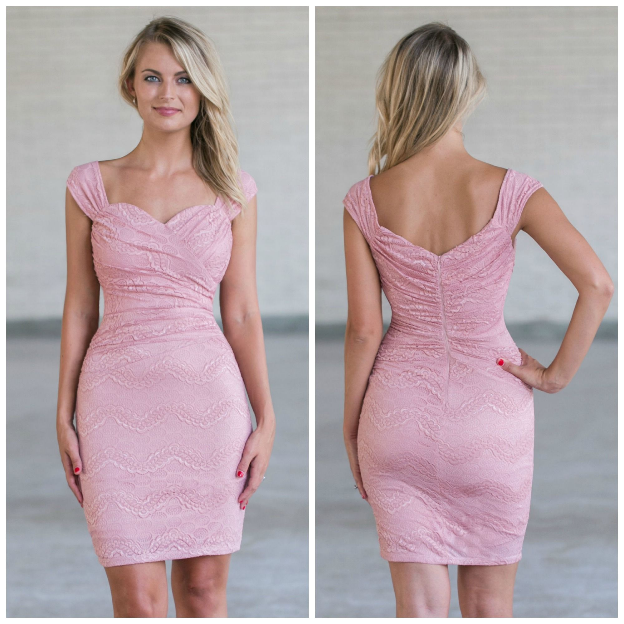 This pink lace dress has a fitted cut: http://ss1.us/a/eQwfs22p ...