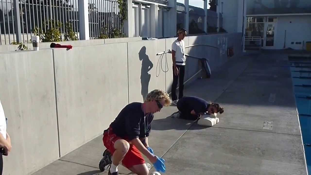 Lifeguarding Drill: CPR, 2-rescuer progression 10 second delay in second rescuer, Pete DeQuincy