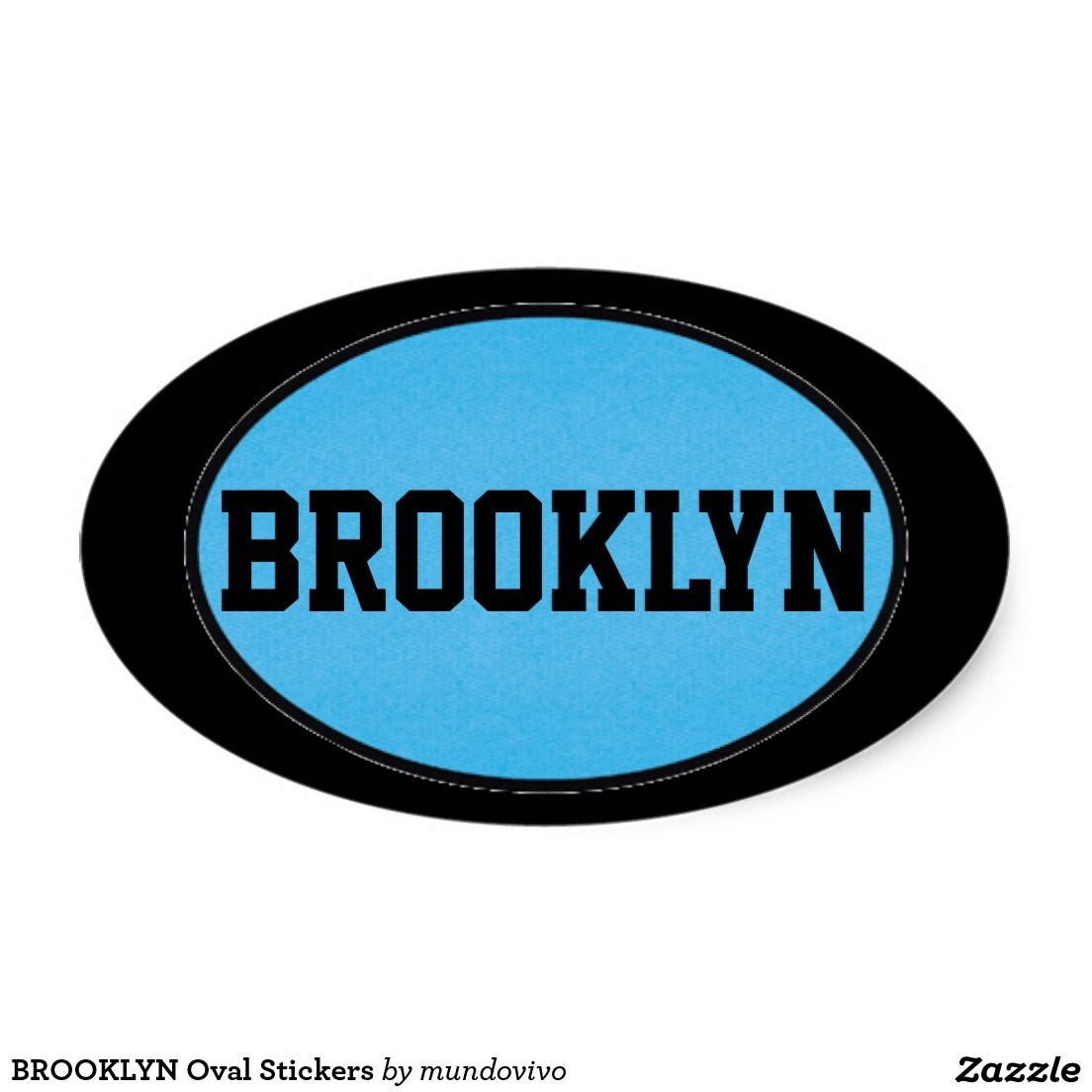 Brooklyn oval stickers