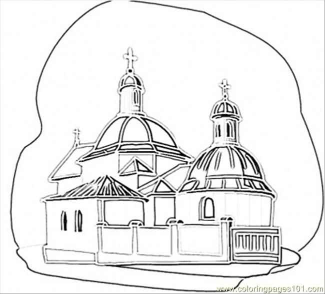 Church In Kiev Coloring Pages Free Printable Coloring Pages