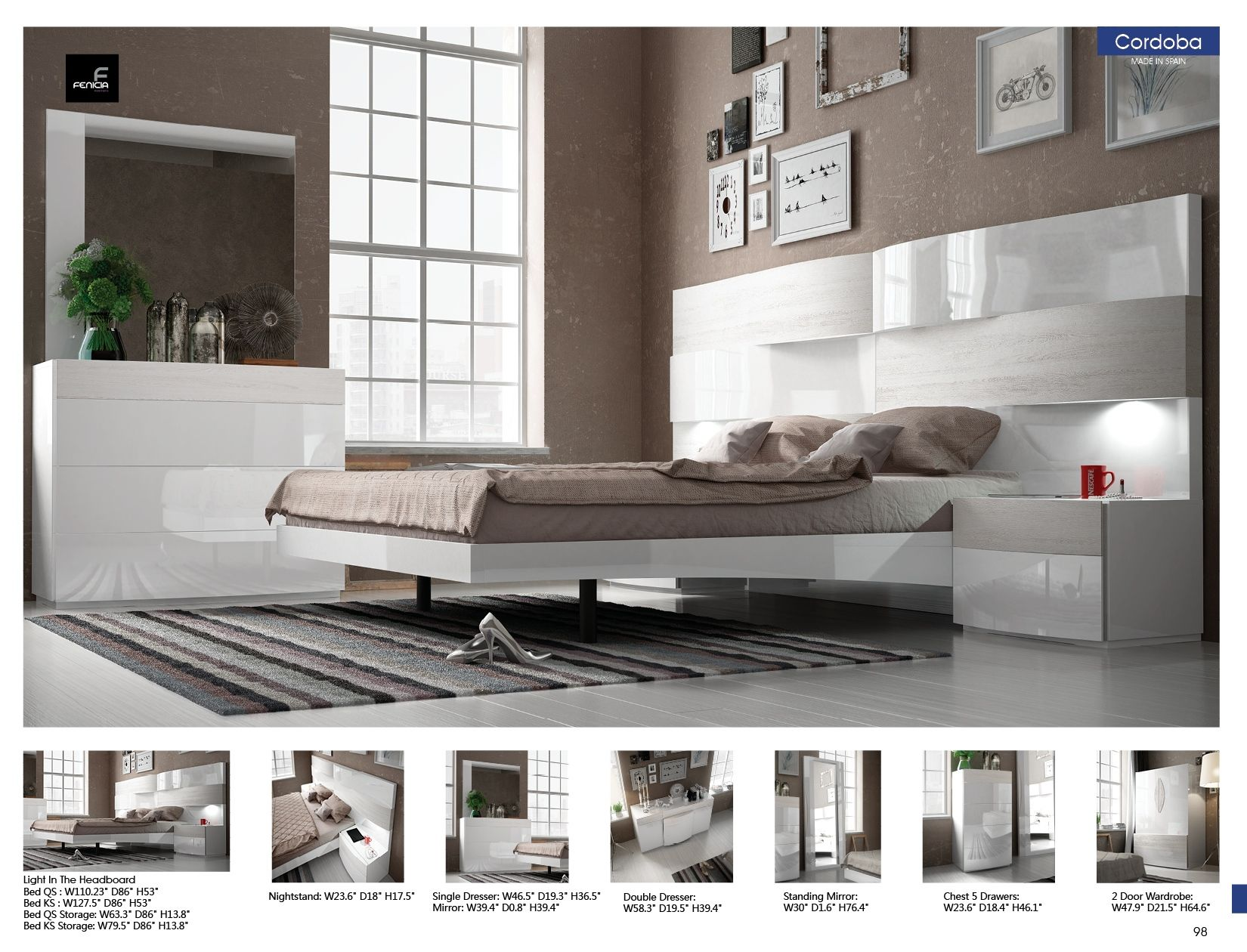 Lacquered made in spain wood modern platform bed with tiles milwaukee - Modern Furniture