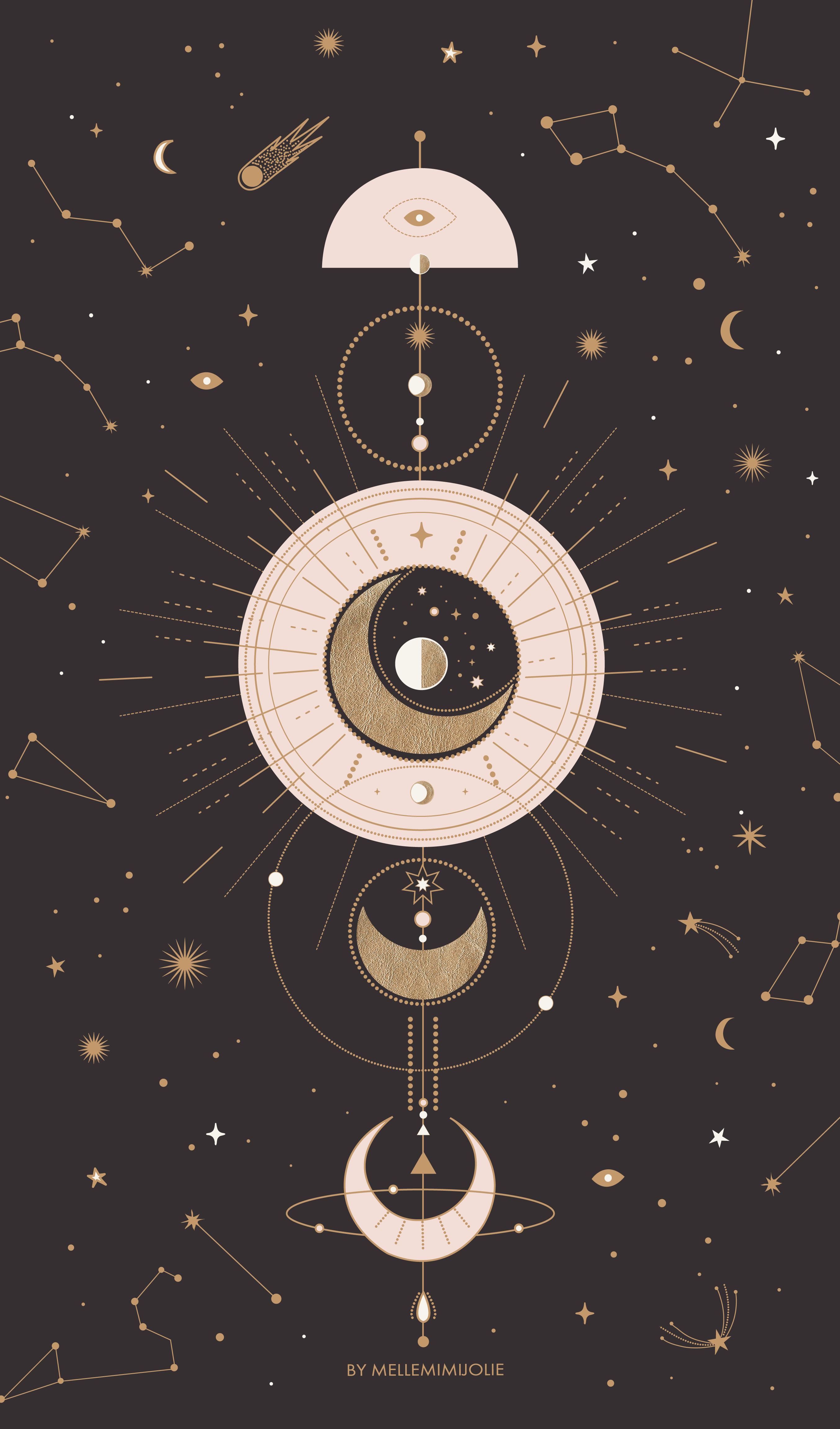 Pin By Ivana Cuellar On Fond D Ecran Constellation Art Iphone Wallpaper Moon Art