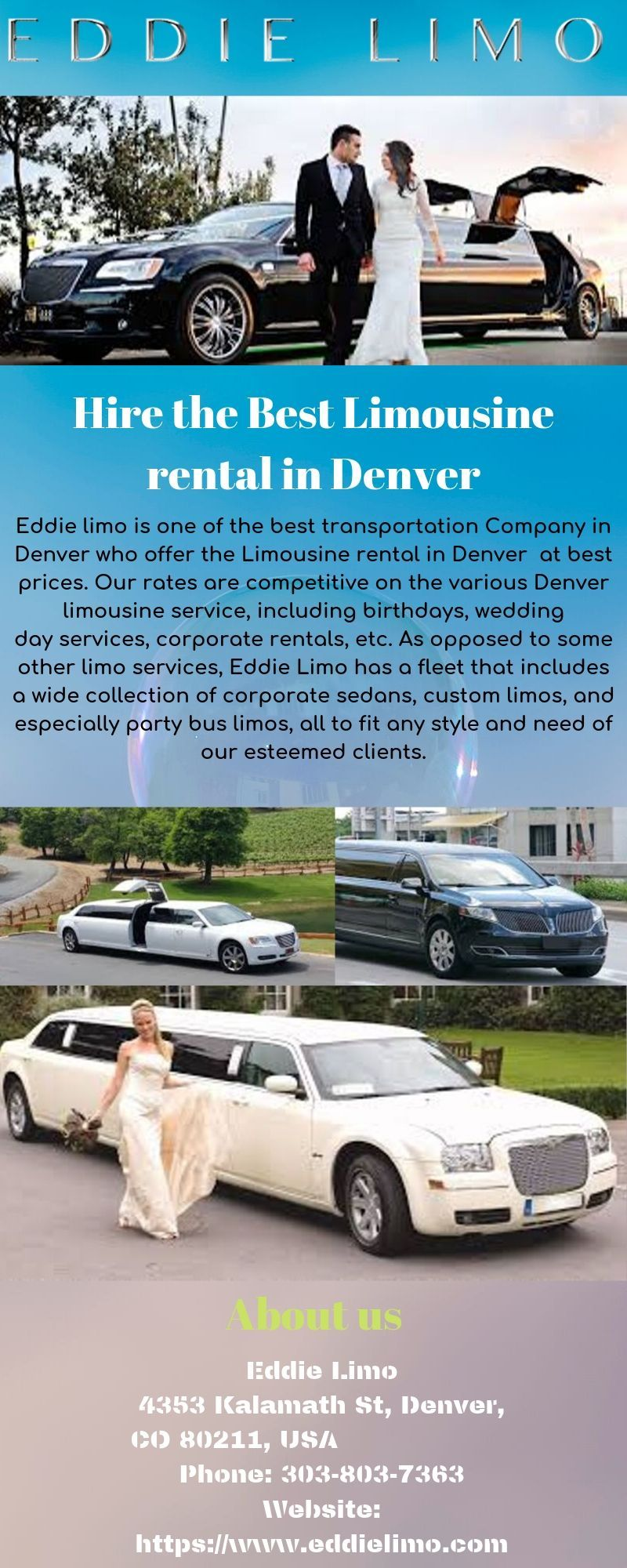Eddie Limo Is One Of The Best Transportation Company In Denver Who Offer The Limousine Rental In Denver At Best P Limousine Rental Limousine Corporate Rentals