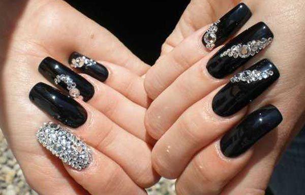 Diseños De Uñas Con Piedras De Cristal Diseños Pinterest Nails
