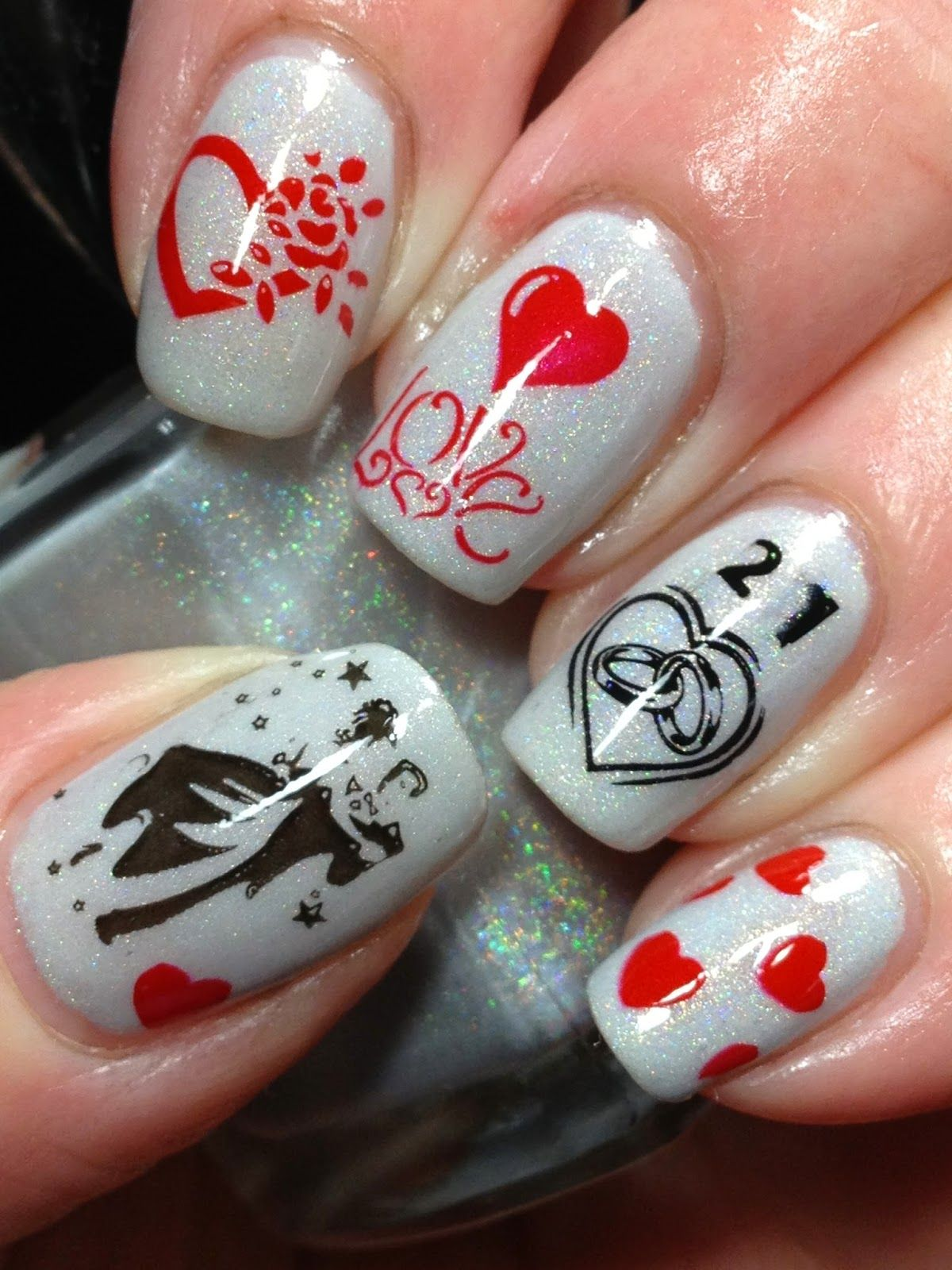 Anniversary Nails! | Possible designs | Pinterest | Anniversary ...