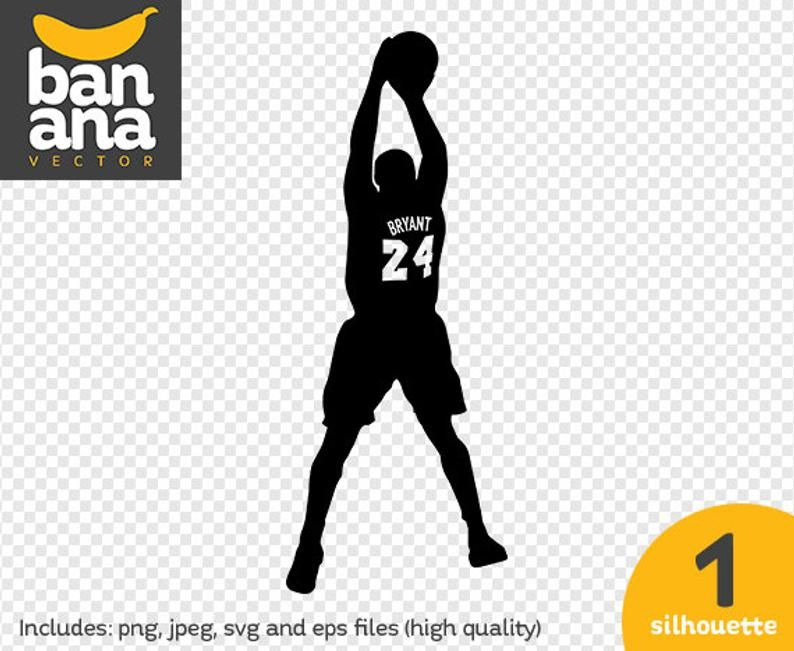 Sale Kobe Bryant Silhouette Png Jpg Svg Eps Files High Etsy In 2020 Silhouette Png Kobe Bryant Svg