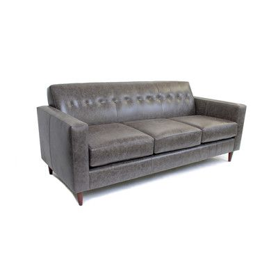 Liberty Manufacturing Co. Jackson Leather Sofa Upholstery: