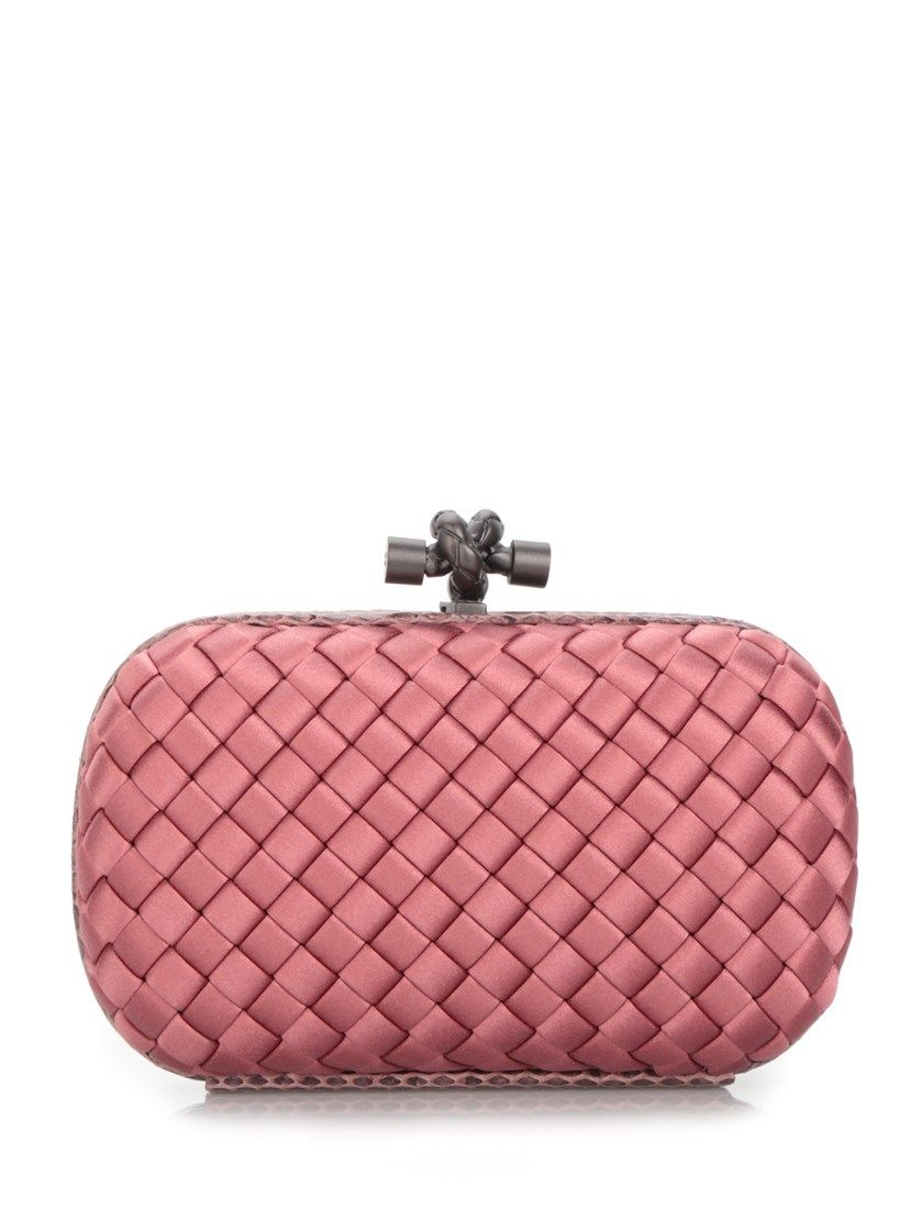 BOTTEGA VENETA Dusty Rose  Knot  Clutch.  bottegaveneta  bags  clutch  silk   hand bags   ac8a9ef8293be