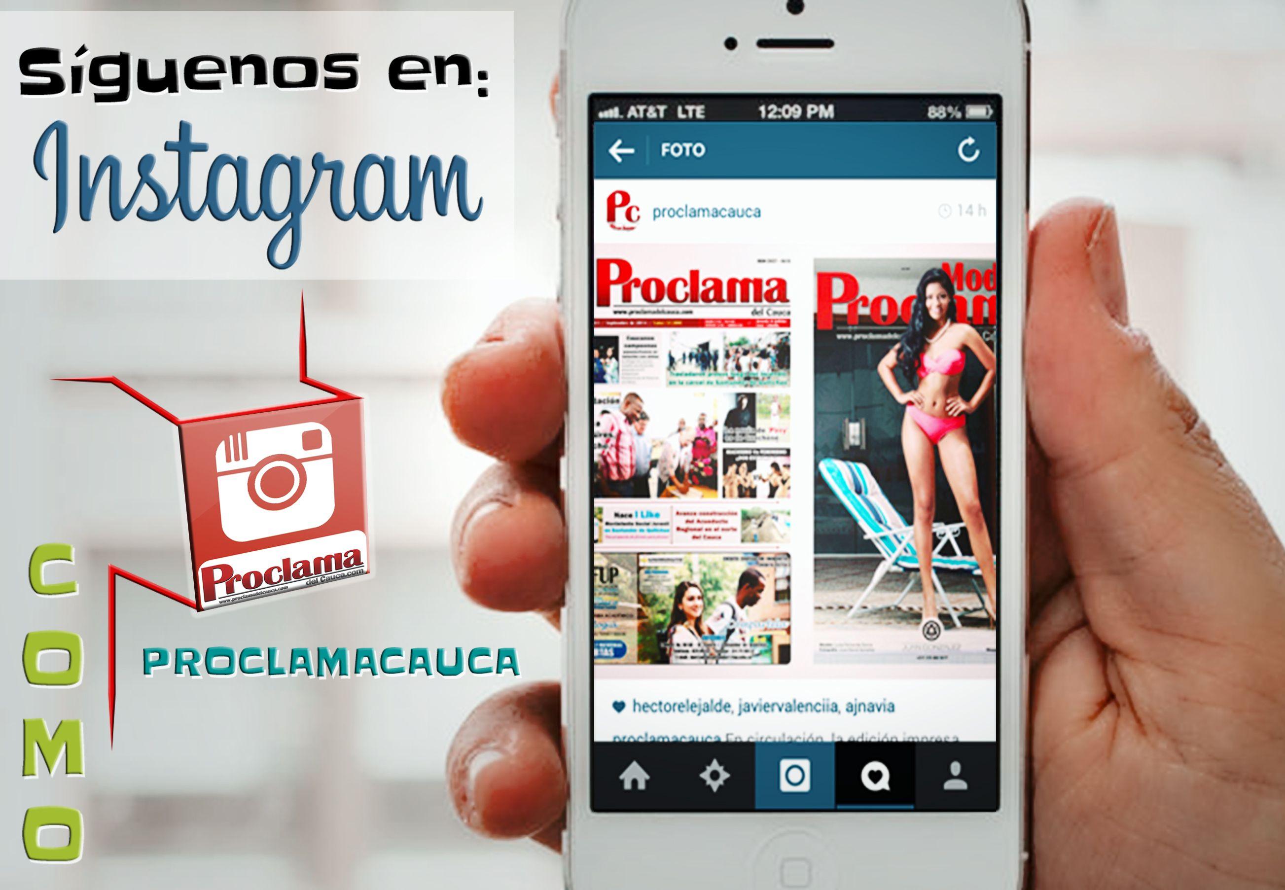 En diciembre siguenos en #Instagram donde encontrarás todas las noticias y opiniones de #ProclamaDelCauca