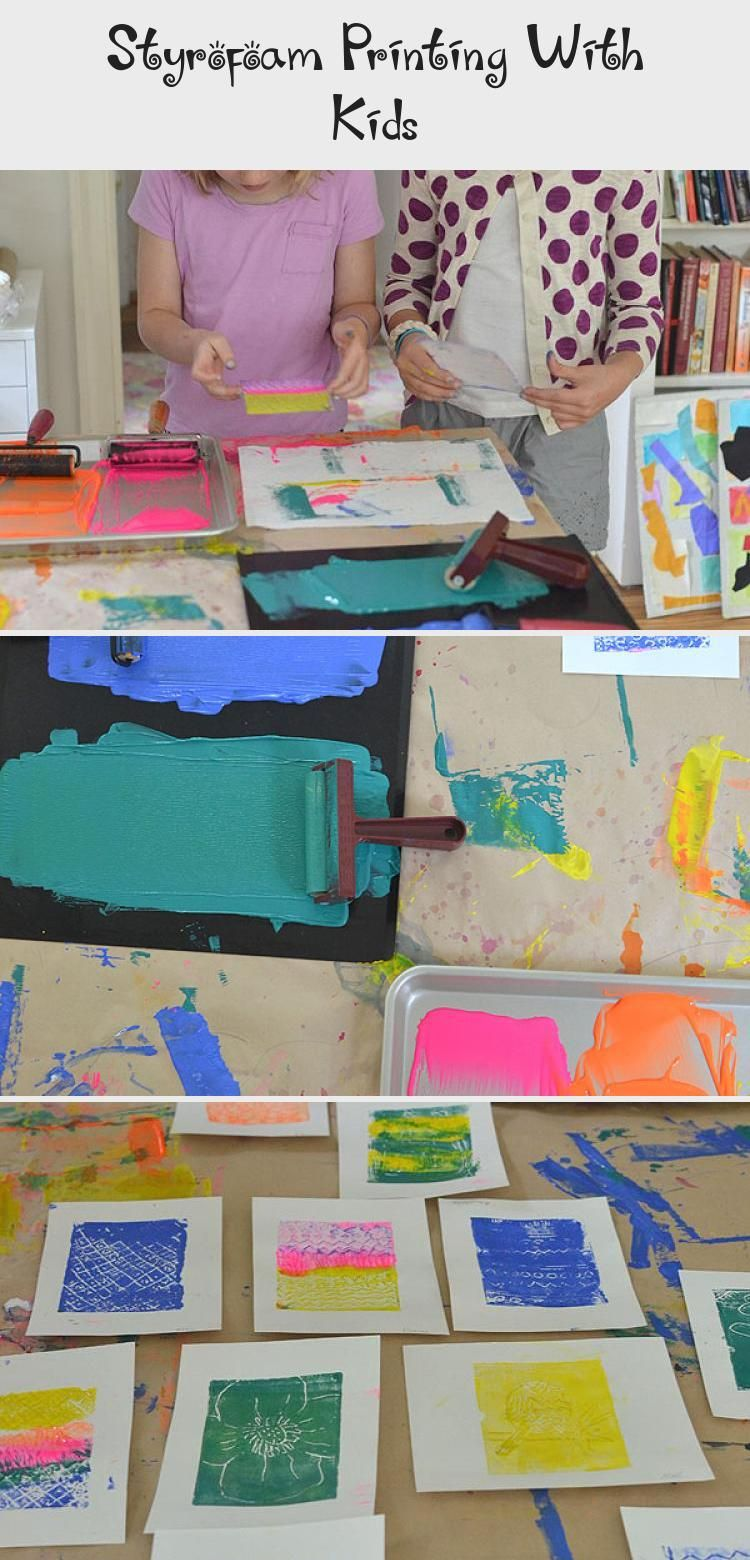 Photo of Styrofoam Printing With Kids – ART
