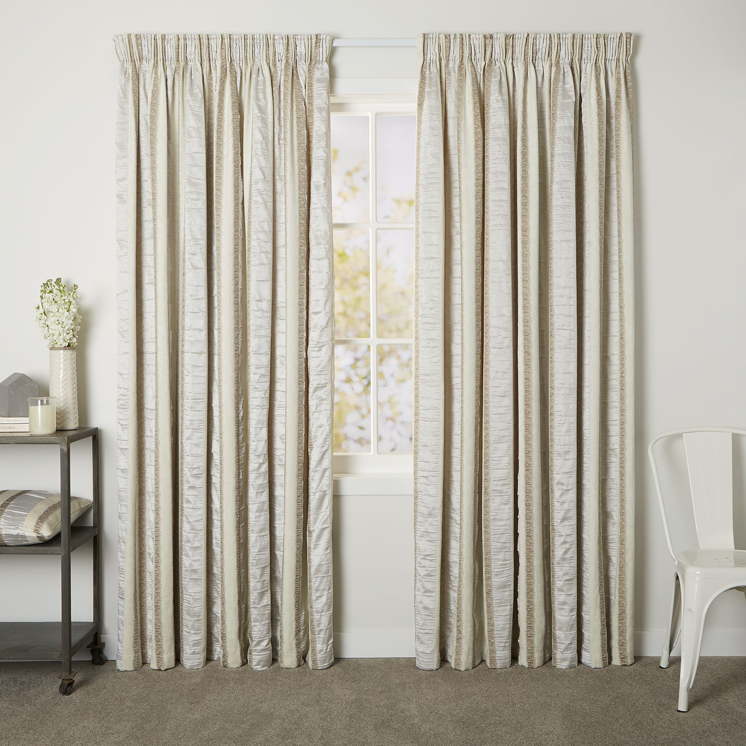 Estate Rice Readymade Lined Pencil Pleat Curtain Curtain Studio Buy Curtains Online Buy Curtains Online Curtains Pleated Curtains