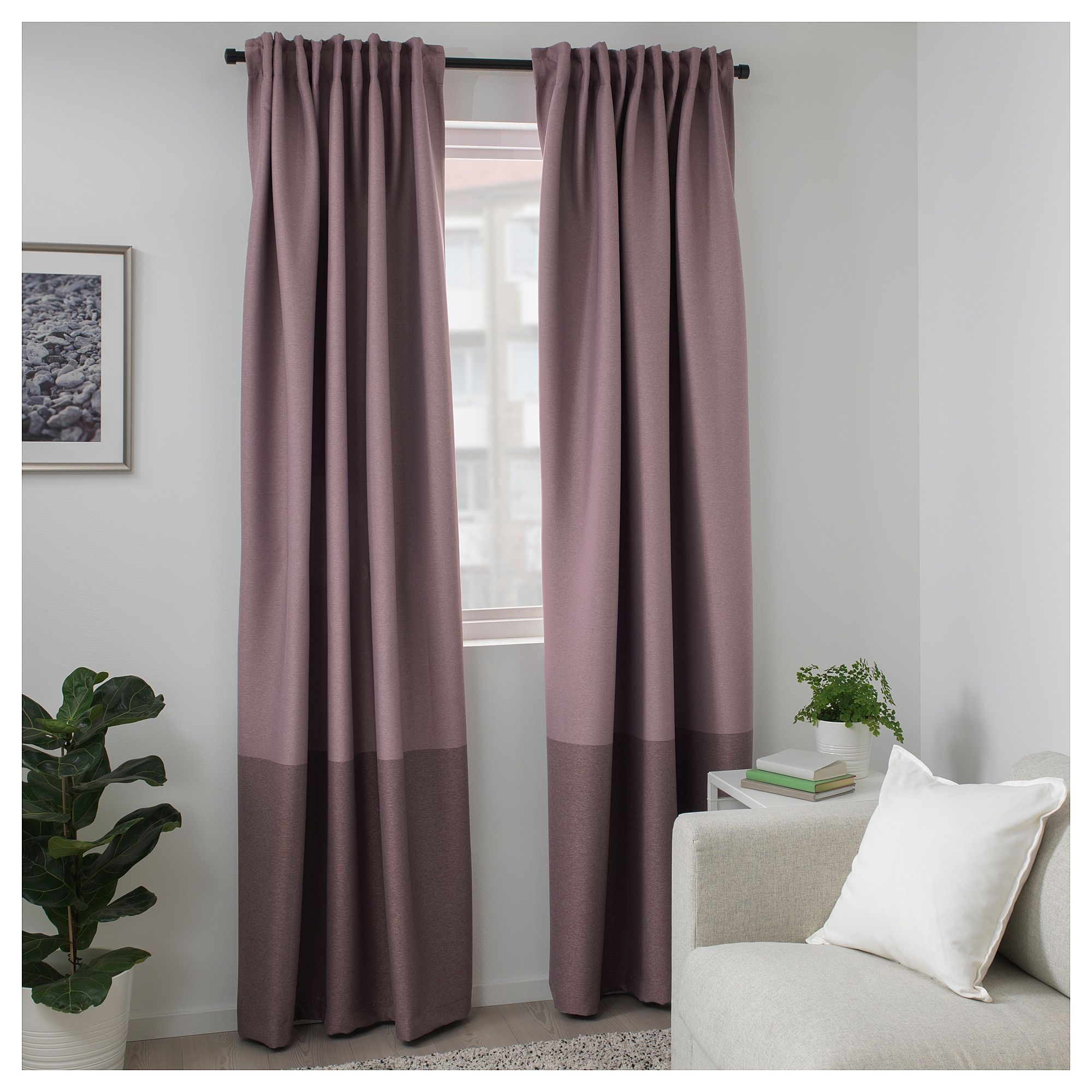 Ikea Marjun Room Darkening Curtains 1 Pair Lilac Products In 2019 Room Darkening Mauve - Ikea Vorhang Marjun