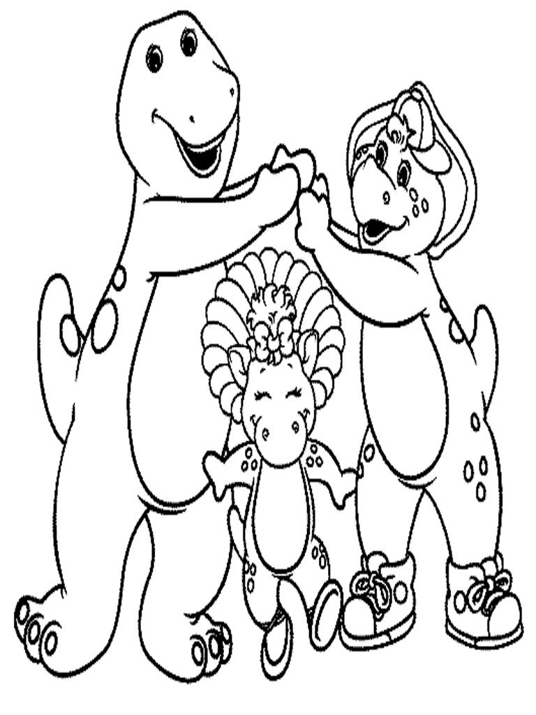 Barney And Friends Coloring Pageskidsfreecoloring Net Free