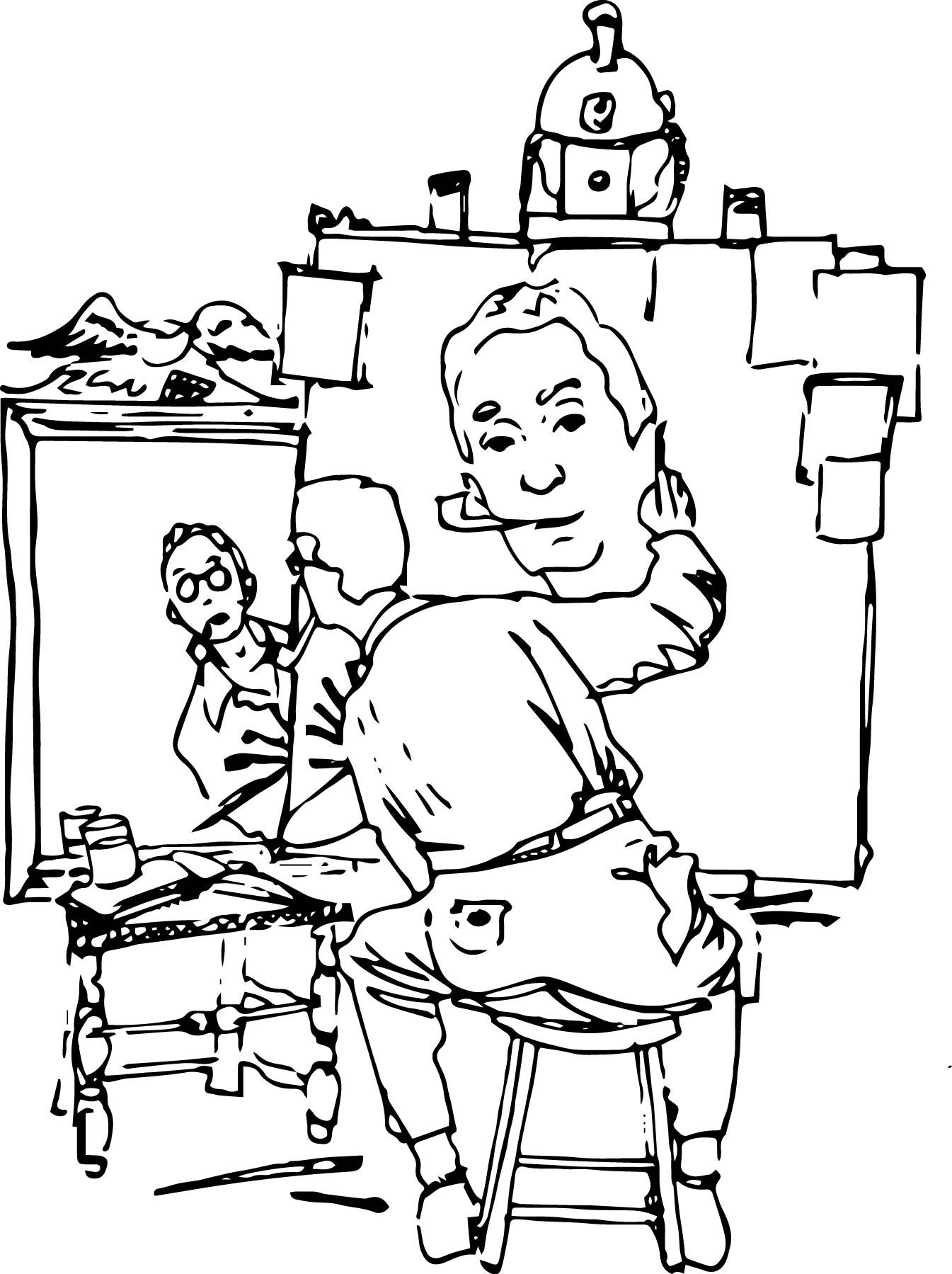 norman rockwell coloring pages - photo#1