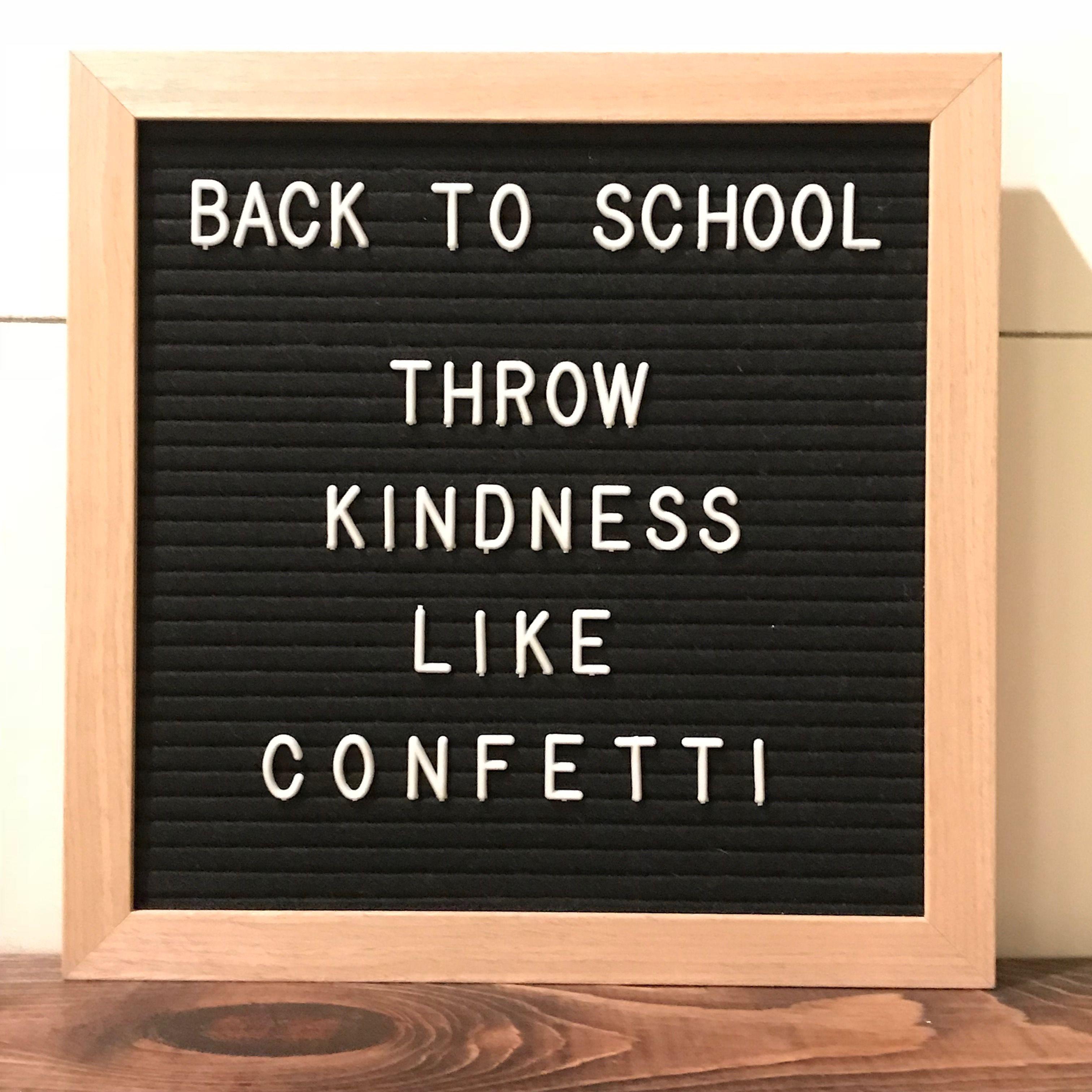 Back To School Letter Board Back To School Quotes Message Board Quotes Letter Board