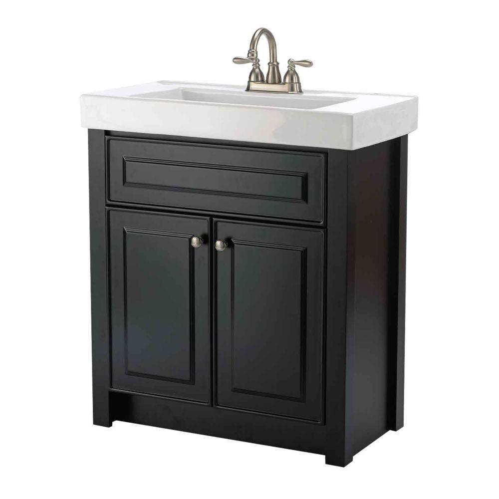 keystone 30 inch w 2 door freestanding vanity in black on home depot vanity id=41050