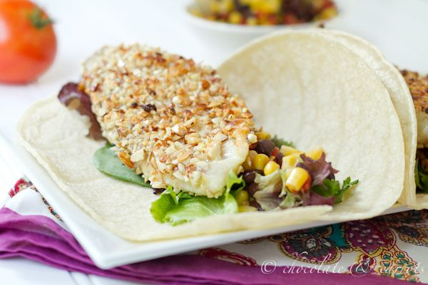 Almond Crusted Fish Tacos
