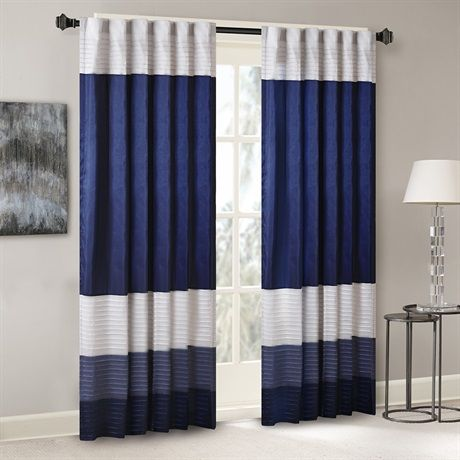 Amherst Polyoni Pintuck Window Panel Curtains Panel Curtains Striped Room