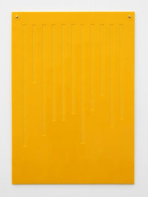 Magali Reus, Balance Sheet (Yellow 7), 2011 Monochrome - balance sheet