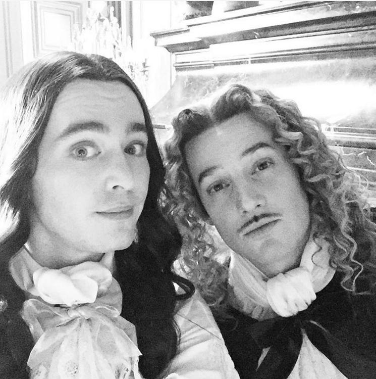 Alexander Vlahos and Evan Williams in Versailles La Série