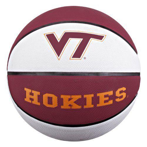 Ncaa Virginia Tech Hokies Collegiate Deluxe Official Size Rubber Basketball By Baden 17 99 Hokies Virginia Tech Hokies Virginia Tech Basketball