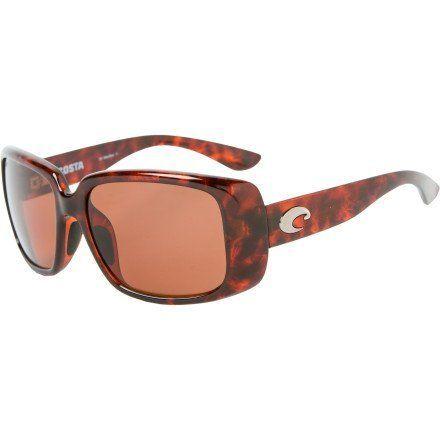 e6c7f6d8f3 Costa Del Mar Little Harbor Polarized Sunglasses - Costa 580 Polycarbonate  Lens - Women s Tortoise Copper