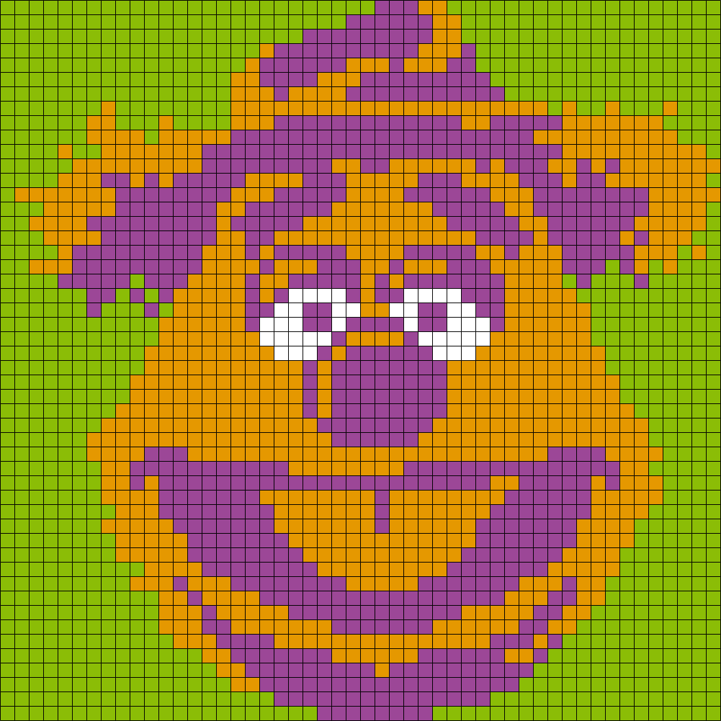 Fozzie Bear From The Muppets (Square) Perler Bead Pattern / Bead Sprite